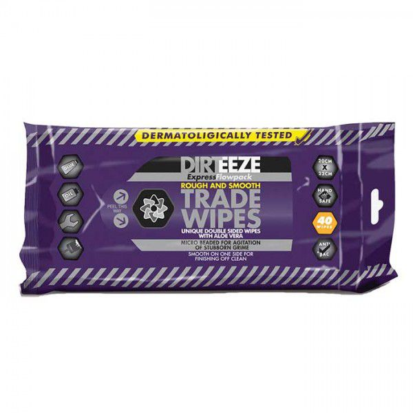 Dirteeze Rough and Smooth Heavy Duty Wipes Flowpack