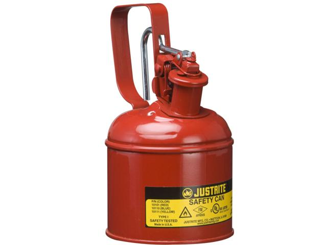 1 Litre Type 1 Steel  Red Safety Can