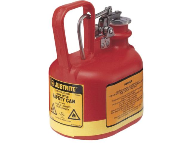 2 Litre Type 1 Polyethylene Oval Red Safety Can