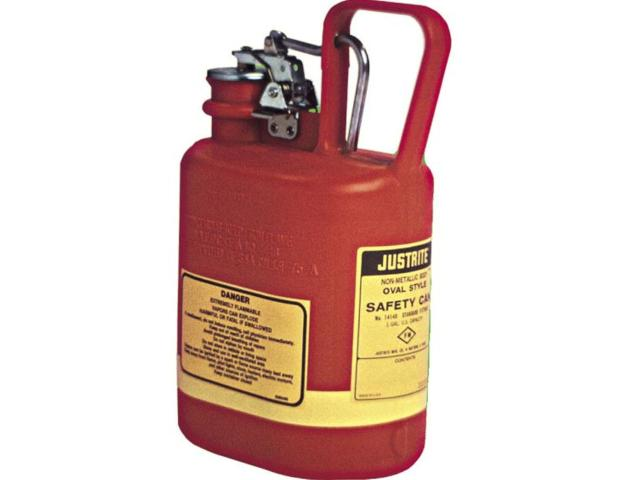 4 Litre Type 1 Polyethylene Oval Red Safety Can