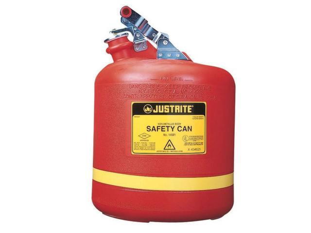19 Litre Type 1 Polyethylene Round Red Safety Can