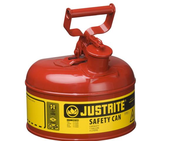 4 Litre Type 1 Steel Red Safety Can