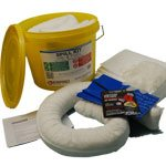 10 Litre Oil and Fuel Spill Kit in a Tub