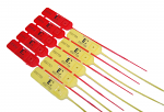 LuggageLock Security Tag - Pack 10 Red & Yellow