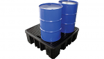 4 Drum Spill Pallet - High Profile (BLACK)