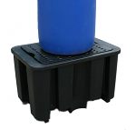 Single Drum Spill Pallet (Black)
