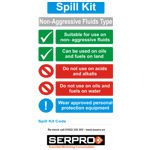 A4 General Purpose Spill Kit Sign - FOAMEX