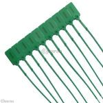 10 Tamper Proof Security Tags - GREEN