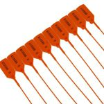 100 Tamper Proof Security Tags - ORANGE